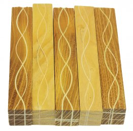 Segmented Serpentine Blanks - Osage Orange With Maple Veneers