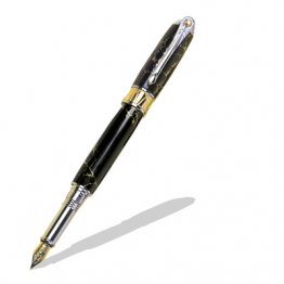 Art Deco Fountain Pen Kit - Black TN & 22KT