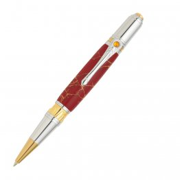 Art Deco Ballpoint Pen Kit - Chrome & Gold TN
