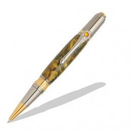 Art Deco Ballpoint Pen Kit - Black TN & Gold TN