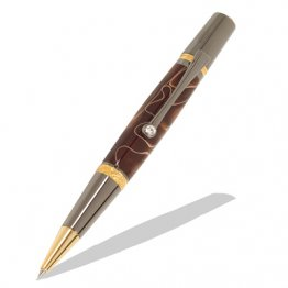 Majestic Squire Twist Pen Kit - Gold TN & Black TN