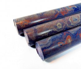 Swirled Red White & Blue Ebonite Rod