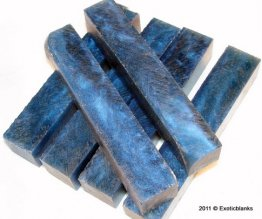 Sparkle Blue Powder Rhino Plastic Pen Blanks