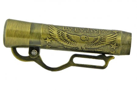 American Pride Lever Action Pen Kit - Antique Brass (Berea) close up 2