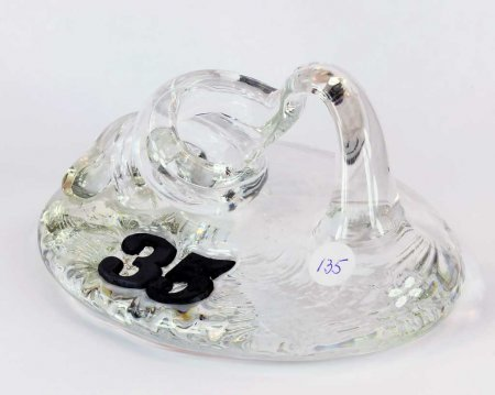 Art Glass Pen Holder Paperweight - #35. Alt View.