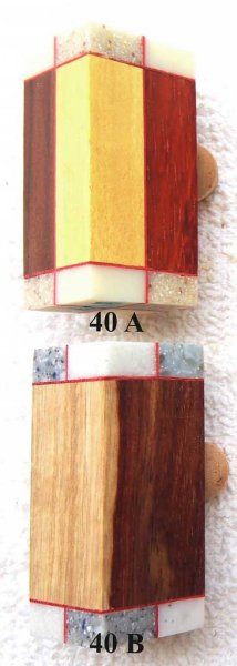 Joe's Wood Artistry - Segmented Triangles & Squares Pattern #40F - Cigar (Two Piece)