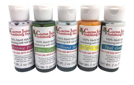 Cactus Juice Wood Stabilizing Dye - Sampler (5 Btl)