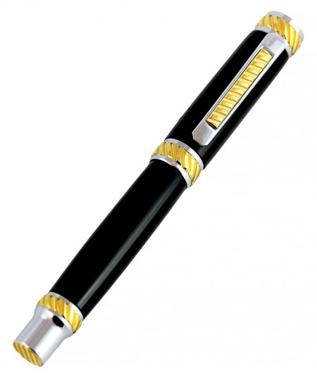 Jr. Abraham Rollerball Pen Kit - Rhodium & Gold