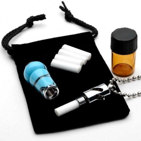 Aromatherapy Necklace Kit - Chrome. Alt 1