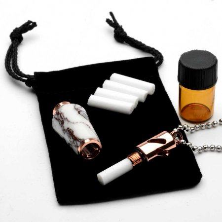 Aromatherapy Necklace Kit - Rose Gold. Alt 1.
