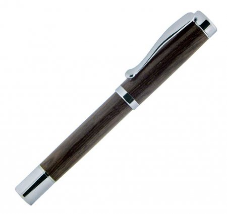 Atrax Rollerball Pen Kit - Platinum close up