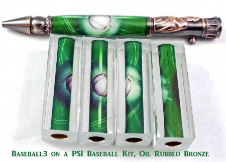 Baseball Pen Blank #03 and pen kit