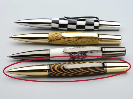 Bella Ballpoint Twist Pen Kit - Gold & Gun Metal 4