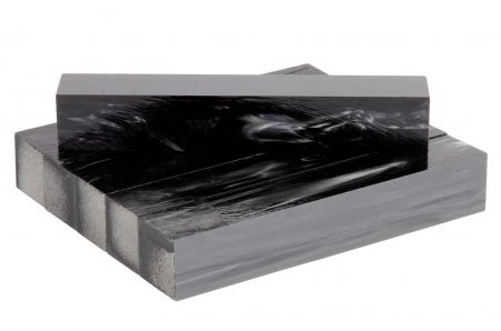 Kirinite Pen Blank - Black Pearl. Group.
