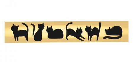 Cat Ballpoint Pen Kit - 24kt Gold - open 4