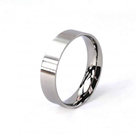 Comfort Ring Core - Stainless Steel - 6mm. Size 12 Alt