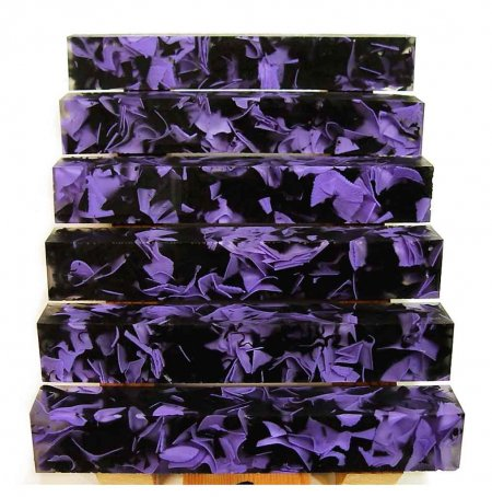 Coral Reef Alumilite Pen Blanks - #CR08 Purple Black
