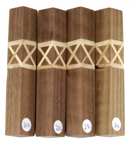 Terry's Celtic Knot Pen Blanks - Curly Walnut #21-24C