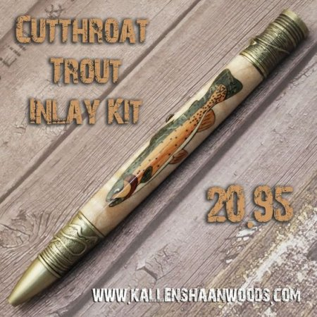 Cutthroat Trout Laser Inlay Kit - Fly Fishing Twist Pen Kit