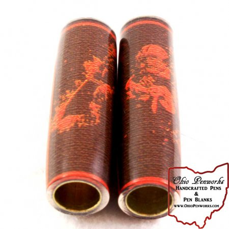 Football Pen Blank #06 - Brown & Orange. 2