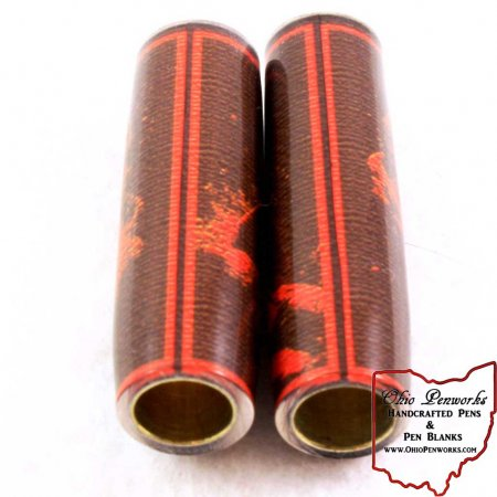 Football Pen Blank #06 - Brown & Orange. 3