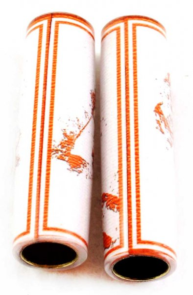 Football Pen Blank #12 - White & Orange. Alt View 3