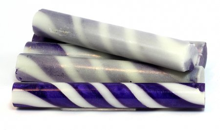 Sassy Stripes Blank - Purple & White