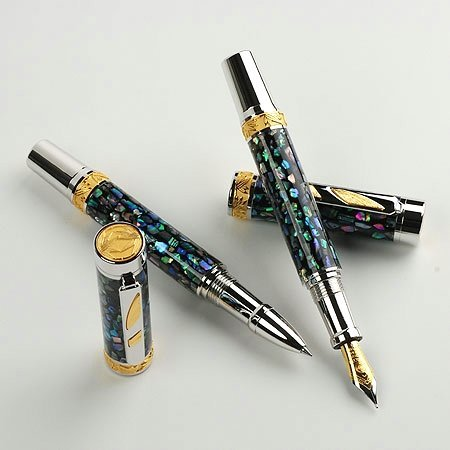 Imperial Fountain Pen Kit - Rhodium & Black Ti - open 2