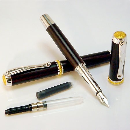 Jr Statesman Fountain Pen Kit - Rhodium & 22KT (Non Postable)