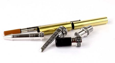 Jr Emperor Rollerball Pen Kit - Rhodium & Black Ti parts