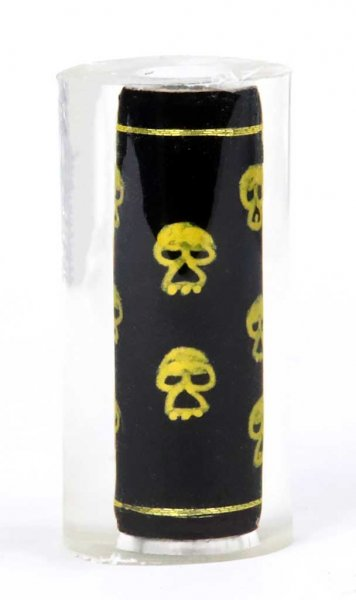 Thread Art  Pen Blanks - Hand Painted Gold Skulls. Back Side.