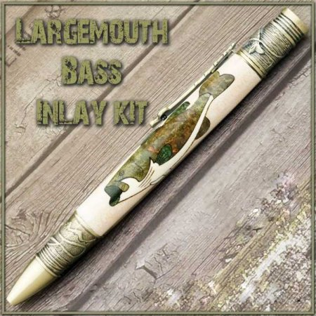 Largemouth Bass Laser Inlay Kit - Fly Fishing Twist Pen Kit