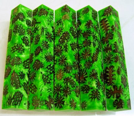 Mini Pine Cone Pen Blanks - Lime