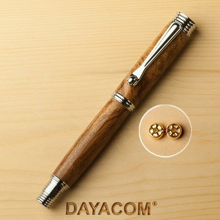Jr. Morgan Rollerball Pen Kit - Chrome - open 2