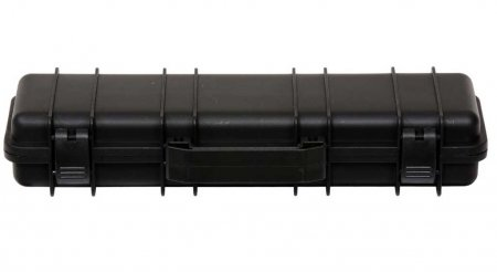 Tactical Rifle Case Pen Box - Black. Closed
