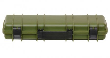 Tactical Rifle Case Pen Box - Olive Drab Green. Closed View.