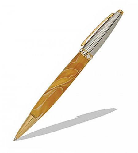 Duchess Ballpoint Pen Kit - Two Tone Chrome & 24KT Gold