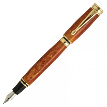 Executive Magnetic Fountain Pen Kit - 24kt Gold