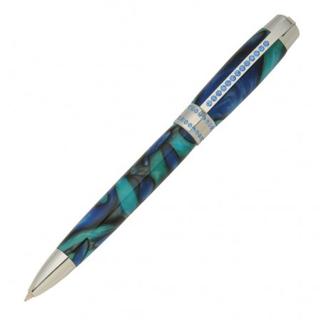 Princess Pen Kit With Blue Crystals - Chrome