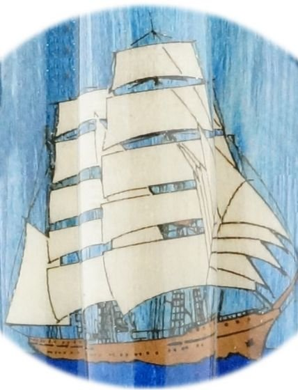 Tall Ship Laser Inlay Kit - PSI Nautical Pen Kit close up