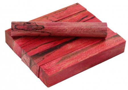 Terry's Stabilized Sycamore Pen Blanks #7 - Dyed Red