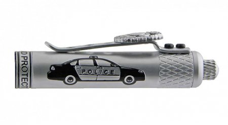 Policeman's Ballpoint Click Pen Kit - Satin Chrome cap car