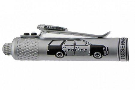 Policeman's Ballpoint Click Pen Kit - Satin Chrome reverse