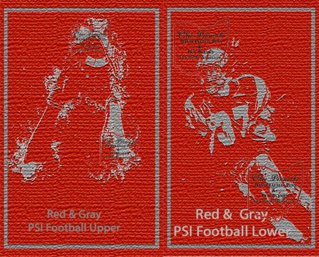 Football Pen Blank #03 - Red & Grey. Flat Image.