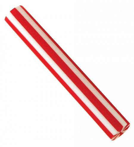 Straight Red & White Striped Pen Blank