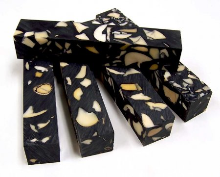 Ivory Nut Resin Blanks - Black