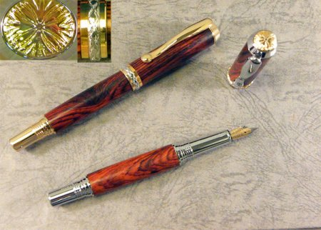 Triton Fountain Pen Kit - Upgrade Gold With Chrome Accents