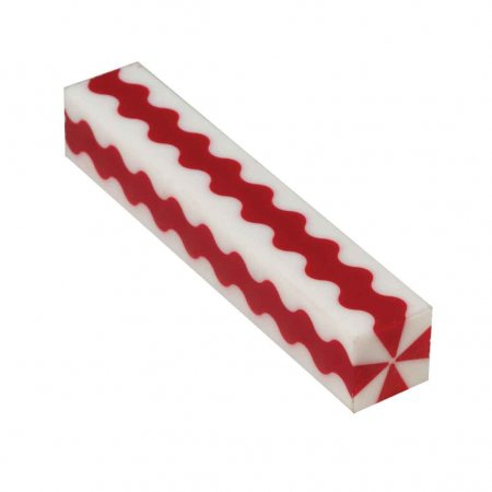 Wavy Red & White Stripes