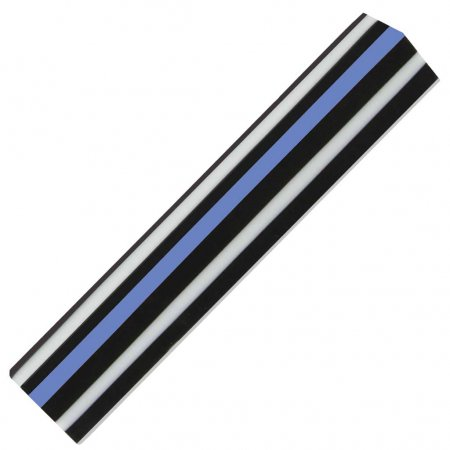 Thin Blue Line - Straight with White and Black Stripes