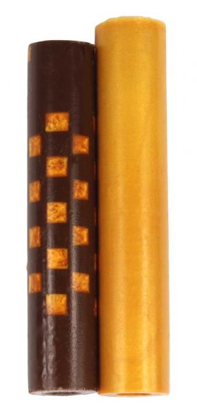 Weave Squeeze 360 Rotacrylic pen blank - Gold Brown & Gold